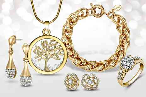 Neverland Sales - Gold Jewelry Mix with Crystals from Swarovski With Free Delivery - Save 38%