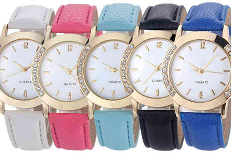 Romatco - Kelly Watch With Swarovski Elements Available in Five Colours - Save 68%