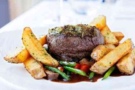 The White Horse Company - Two AA Rosette Fillet Steak Meal for 2 - Save 54%