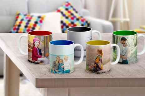 Photo Gifts - One, Two, Three or Four Personalised Colourful Mugs - Save 81%