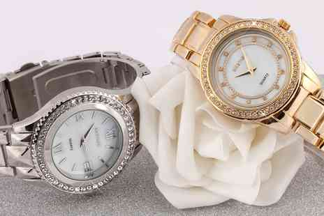 Neverland Sales - Womens Faulkner or Hemingway Watch with Crystals Include Free Delivery - Save 79%