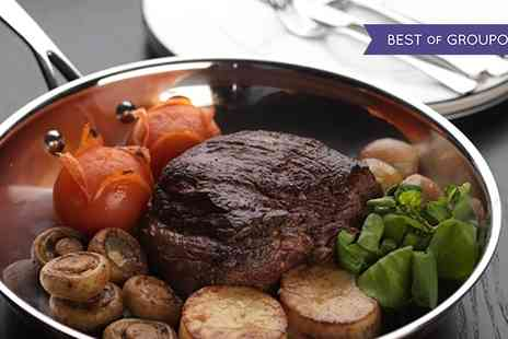 Bo Vine - Sirloin Steak, Half Lobster and a Glass of Sparkling Wine for Two or Four - Save 50%