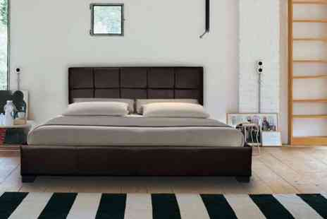 Giomani Designs - Faux leather double ottoman storage bed, with a limited number available - Save 87%