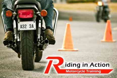 Riding In Action - One Day Motorcycle CBT Course for £49 - Save 67%