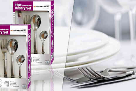 Direct 2 public - 32 Piece Stainless Steel Cutlery Set - Save 88%