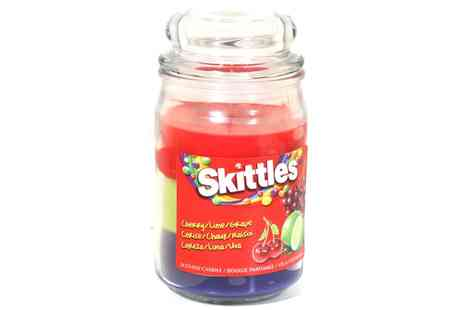 Groupon Goods Global GmbH - Skittles Large Jar Candles in Four Different Scents - Save 55%