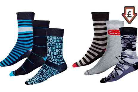 Groupon Goods Global GmbH - Pack of Three or Six Pairs of Ecko Socks - Save 0%