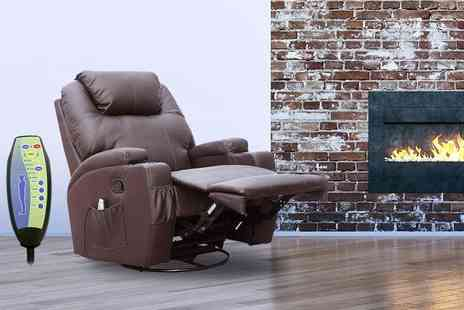 FDS Corporation - Reclining massage chair choose from two colours - Save 62%