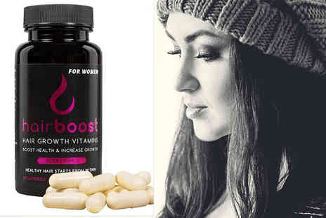 Best of the UK - One month supply of womens HairBoost capsules - Save 55%
