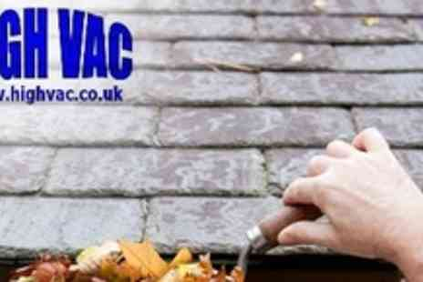 HighVac - Vacuum Gutter Clearance (£24) Plus Window Cleaning (£29) from HighVac (Up to 71% Off) - Save 68%
