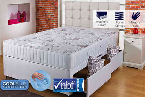 Cheap Mattresses - 3000 pocket sprung and CoolBlue memory mattress choose from five sizes - Save 86%