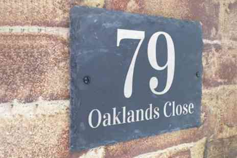 UK Sign Shop - Personalised London Style House Sign With Free Delivery - Save 50%