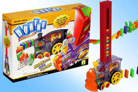 Ckent - Domino train toy with over 80 pieces - Save 55%