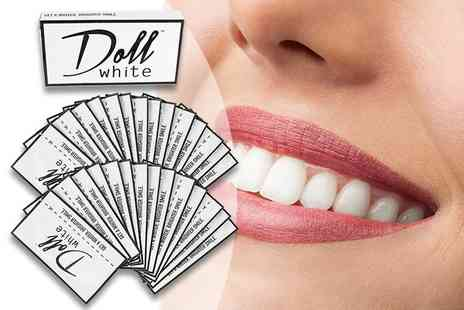 Doll White - 28 day pack of teeth whitening strips - Save 67%