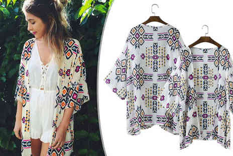 Bazaar me - Patterned Open Shirt - Save 84%