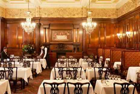 The Savoy Hotel - Historic London Restaurant Meal for 2 including Bubbly - Save 0%