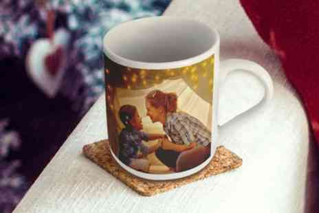 Photo Gifts - One, Two, Three or Four Personalised Premium Mugs - Save 85%