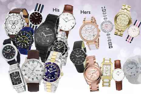 Brand Logic - Mystery watch for him or her Timberland, Armani, Hugo Boss, Marc Jacobs, Daniel Wellington and more - Save 0%