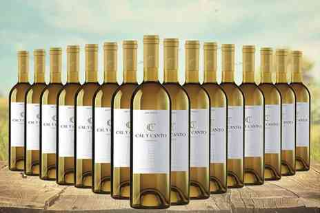 Easy Gifts - 16 bottles of award winning Spanish Cal Y Canto white wine - Save 57%