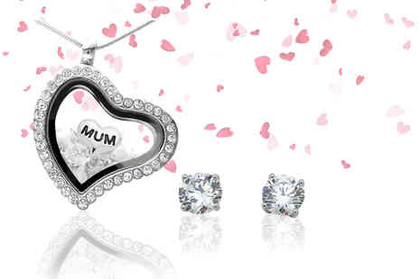 IEntertainment - Crystal mum locket or include a pair of matching earrings - Save 59%