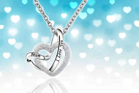 Your Ideal Gift - An I Love You Mum crystal heart pendant necklace - Save 82%
