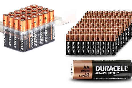Mscomputers - Duracell AA or AAA Batteries Pack of 12, 24, 40, 48 or 60 - Save 56%