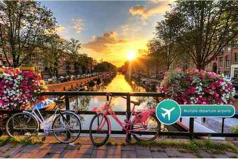 Crystal Travel - Two or three night 4 Star Amsterdam break including flights - Save 52%