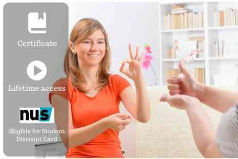 OfCourse - An online sign language levels One & Two course - Save 81%