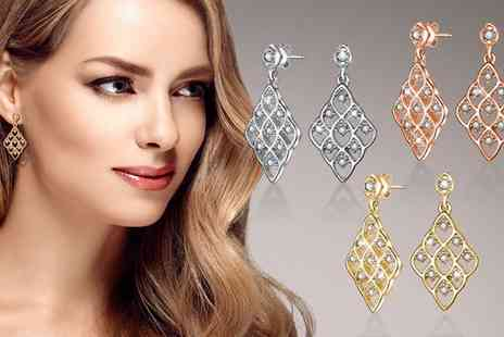 Neverland Sales - One or Two Pairs of Dahlia Earrings with Crystals from Swarovski Include Free Delivery - Save 69%