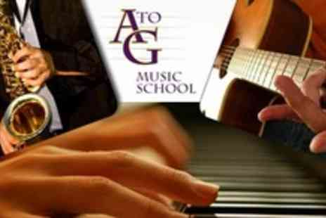 A to G Music School Limited - Three Private 60 Minute Music Lessons - Save 75%
