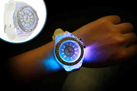 Trending Picks - Womens white LED light up diamante watch - Save 86%