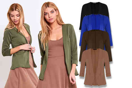 Be Jealous - Open front blazer choose from five colours - Save 60%