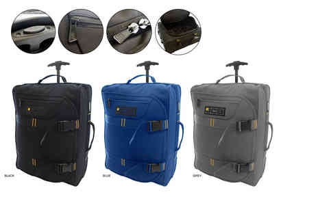 Pearl Info - JCB lightweight wheelie cabin luggage choose from three colours - Save 76%