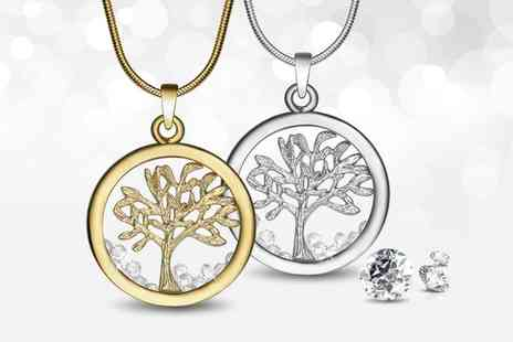 Neverland Sales - Tree of Life Necklace with Crystals from Swarovski One or Two With Free Delivery - Save 82%