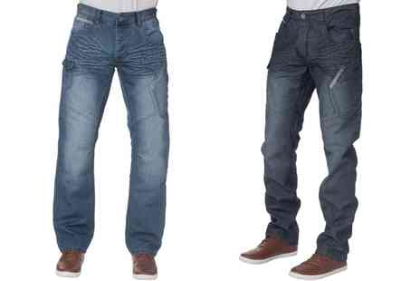 Groupon Goods Global GmbH - Mens Enzo Straight Leg Jeans in Choice of Size and Style - Save 0%
