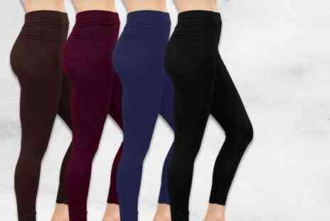 Nothing New 2 Wear - Four pairs of fleece lined leggings - Save 77%