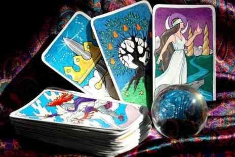 Sanguine Wellness - Three card or 12 month card tarot card reading via telephone or email - Save 80%