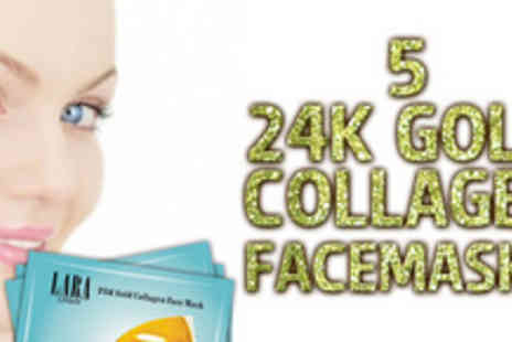 iBeautyFix - Five luxurious 24k gold collagen facemasks from iBeautyFix - Save 73%