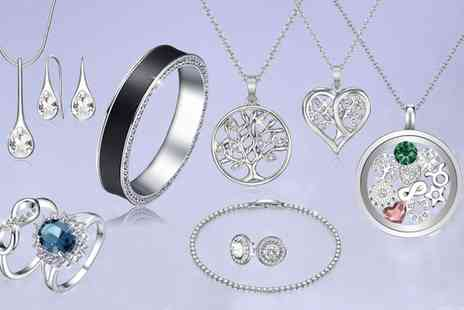 Neverland Sales - Range of Jewellery Pieces Made with Crystals From Swarovski With Free Delivery - Save 84%