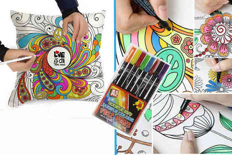 London Exchain Store - Graffiti pillowcase with colouring pens - Save 80%