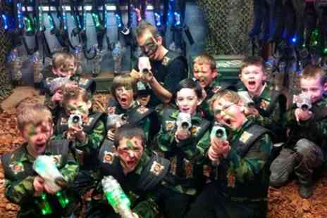 Laser Kombat - One or Two Games of Laser Tag for Two - Save 50%