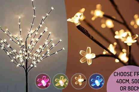 Graboom - LED Blossom Tree, 3 Sizes, 4 Colours - Save 0%