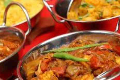 Indian Paradise - Two course Indian meal for two including rice and a glass of wine each - Save 64%