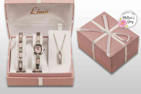 Beebart - Ladies Limit watch, bracelet and necklace gift set - Save 77%