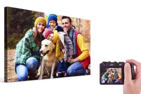 Printerpix - A2 Personalised Photo Canvas - Save 82%