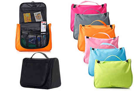 SA Products - Zip Up Toiletries Bag Seven Colours - Save 84%