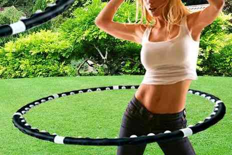 Mscomputers - Weighted Magnetic Exercise Hula Hoop - Save 67%
