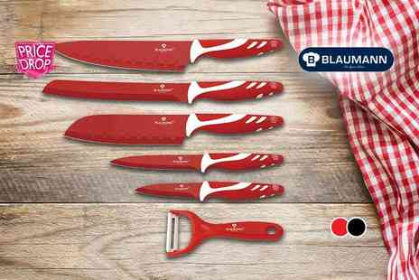 Meadow Vale - Blaumann six piece culinary set choose from black, red or multi coloured - Save 91%