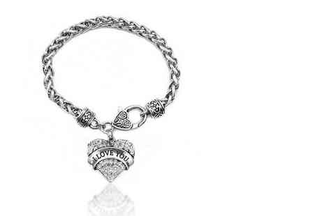 My Boutique Store - Silver plated love bracelet - Save 85%