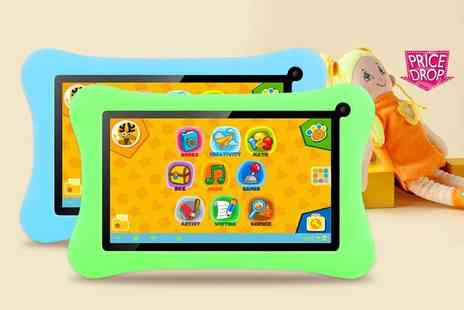Craze UK - Kids Android tablet choose from blue and green - Save 68%